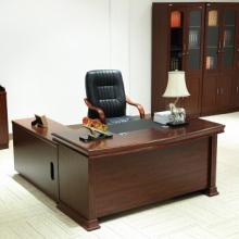 金海马/kinhom 木皮色 中班台 经理桌 主管桌 老板办公桌 1.6米+侧柜 1931-2016