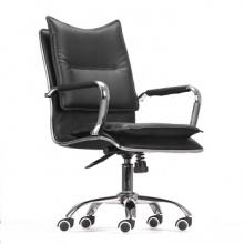逍遥座电脑椅家用办公椅真皮职员椅欧式工作主播沙发老板防爆舒适 型号Z601 经典黑 PU西皮