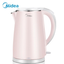 必威官方登陆(Midea)电水壶 304不锈钢电热水壶 1.7L容量 双层防烫烧水壶WHJ1705b
